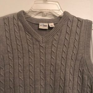 Boys Cable Knit Sweater Vest